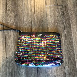 Victoria's Secret Rainbow Sequin Clutch